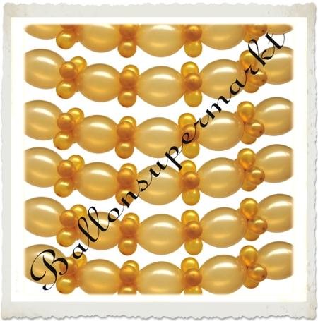 Deko-Girlande aus Ballons, Goldene Hochzeit