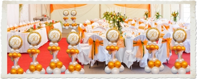 Dekoration Goldene Hochzeit, Goldene 50 1