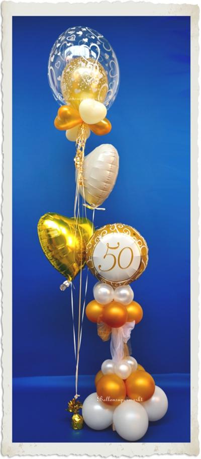Dekoration Goldene Hochzeit, Goldene 50 2
