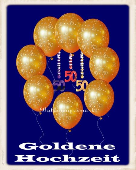 Heliumballons zur Goldenen Hochzeit