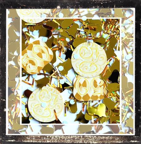 Streudekoration Goldene Hochzeit, Tischkonfetti 50