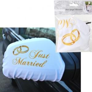 Autospiegel-Überzieher-Just-Married