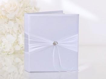 Hochzeits Gästebuch mit Schleifen und Herzen