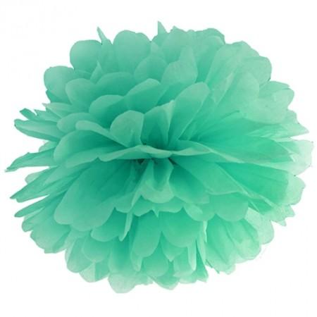 Pompom-Dekoration-Mintgrün