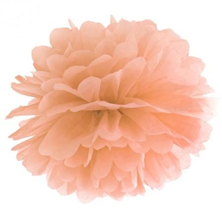 Pompom-Dekoration-Pfirsich