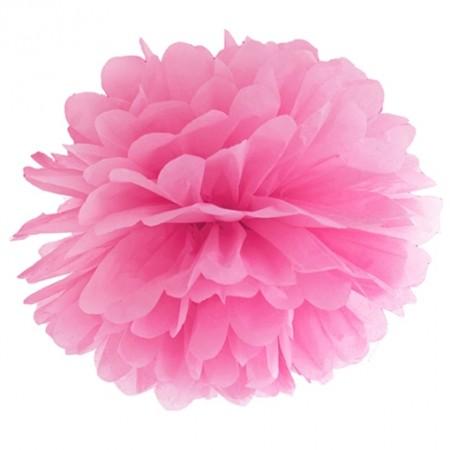 Pompom-Dekoration-Pink