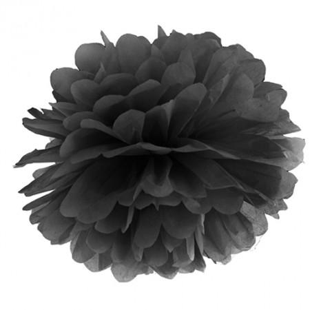 Pompom-Dekoration-Schwarz