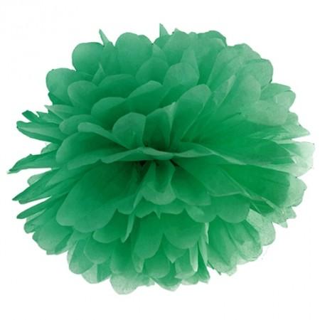 Pompom-Dekoration-Smaragdgrün
