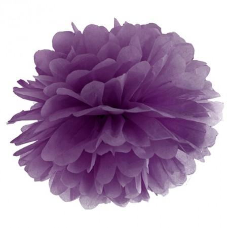 Pompom-Dekoration-Violett